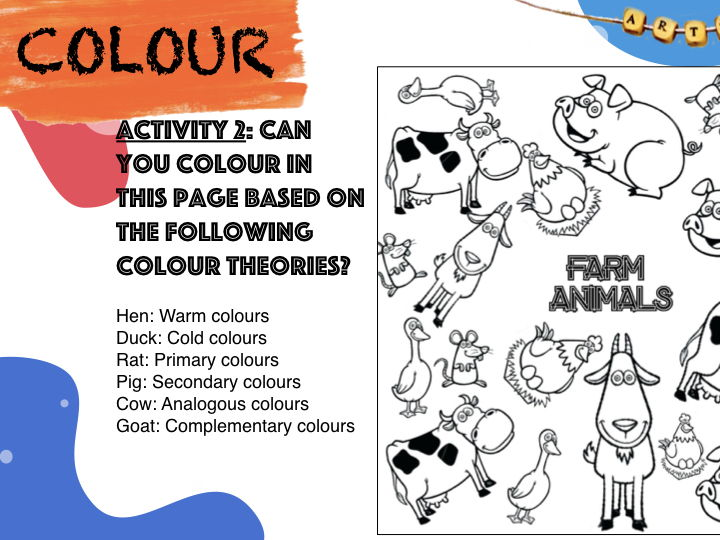 Colour Theory Colouring Pages