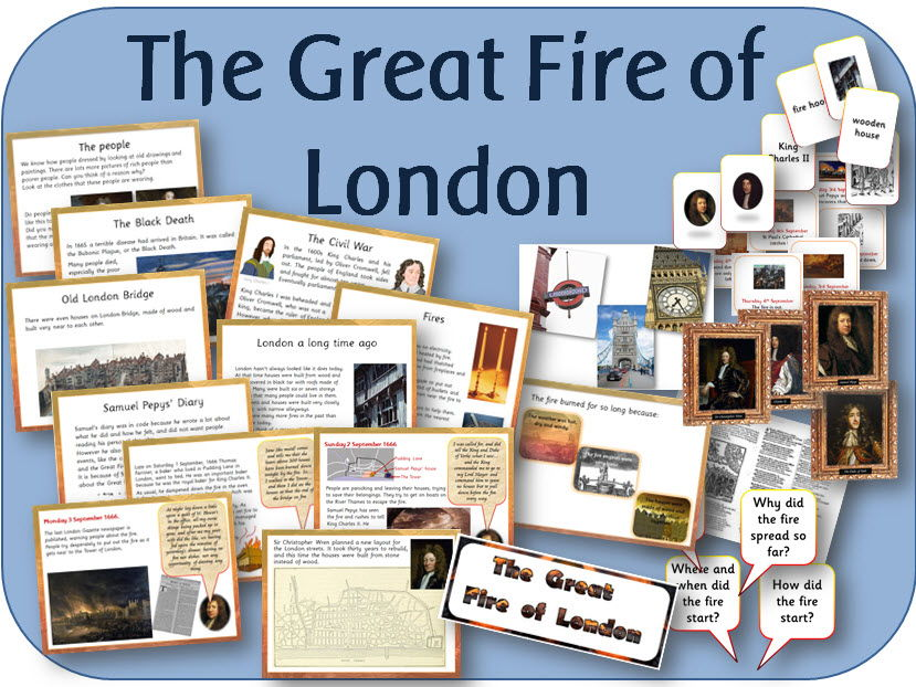 the great fire of london pack powerpoint worksheets wordmat games display activities by. Black Bedroom Furniture Sets. Home Design Ideas