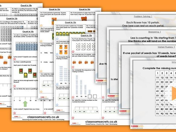 FREE Year 1 Count in 10s Summer Block 1 Maths Lesson Pack