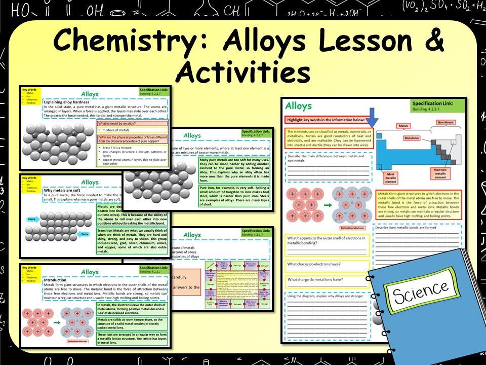 AQA KS4 GCSE Chemistry (Science) Alloys Lesson