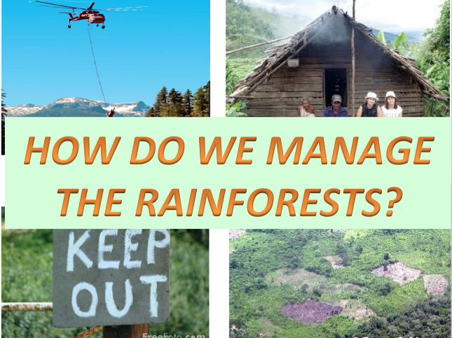 How do we Manage the Rainforests? - Ecosystems