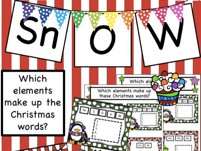 Christmas Chemistry Elements