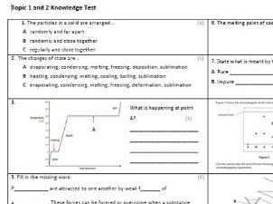 Edexcel CC9 Chemistry Knowledge Assessment