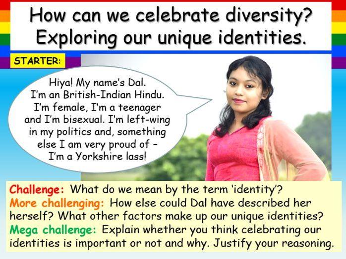 Identity :  Diversity + Identity