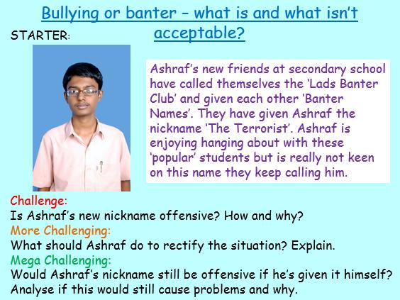Bullying or Banter