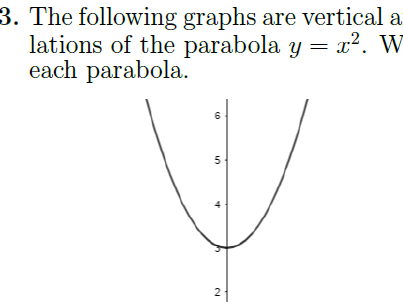 Transforming Parabolas worksheet (with solutions)