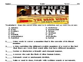 The Road Virus Heads North by Stephen King Assignment