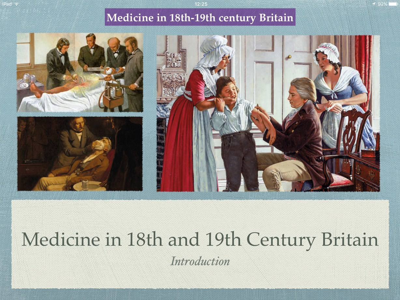 GCSE History of Medicine. Unit 3: 18th 19th Century