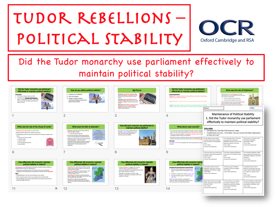 Tudor Rebellion - Political Stability (Parliament)