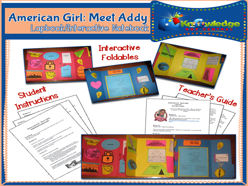 American Girl:  Meet Addy  Lapbook