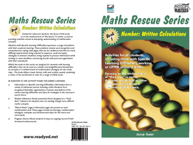 Maths Rescue 1 – Number: Written Calculations (Irish E-Book for Special Needs and Students at Risk)