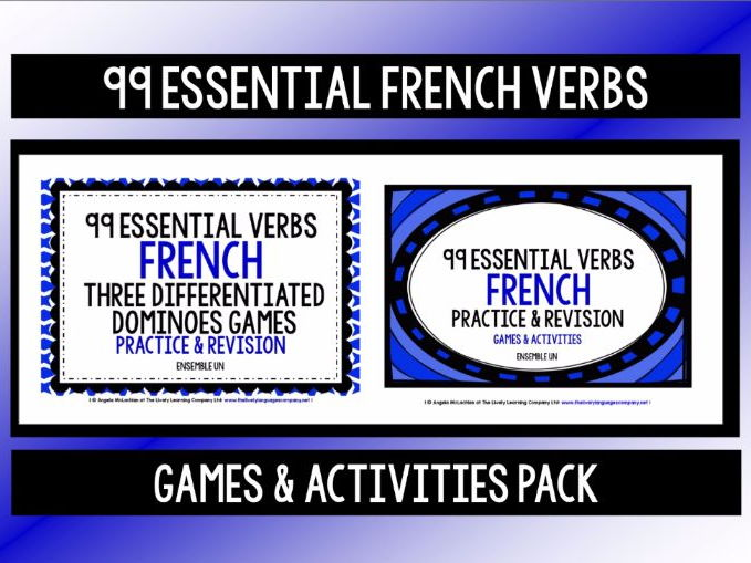 FRENCH VERBS (1) - PRACTICE & REVISION PACK - 99 VERBS