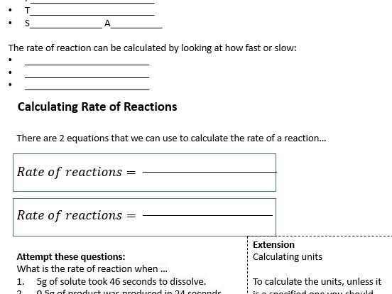 GCSE Chemistry - C6 combined worksheets
