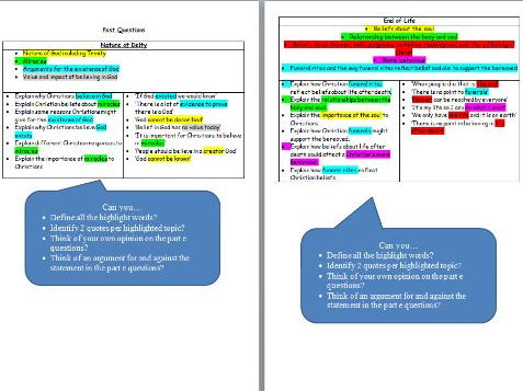 GCSE RS Revision including Past Questions