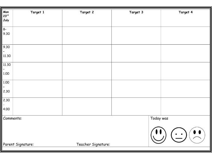 4 Target Sticker Chart and Communication Book (Editable)