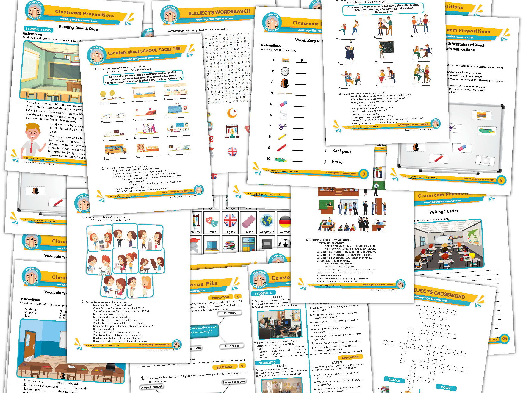 Education & School Unit - ESL Activity Bundle
