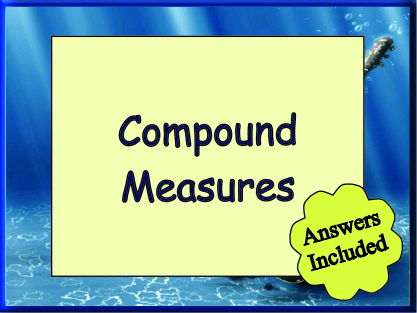 Compound Measure for KS3 - with Answers
