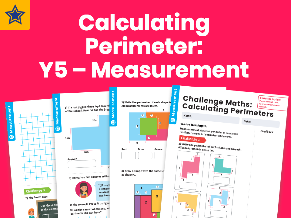 Calculating Perimeter: Y5 – Measurement – Maths Challenge