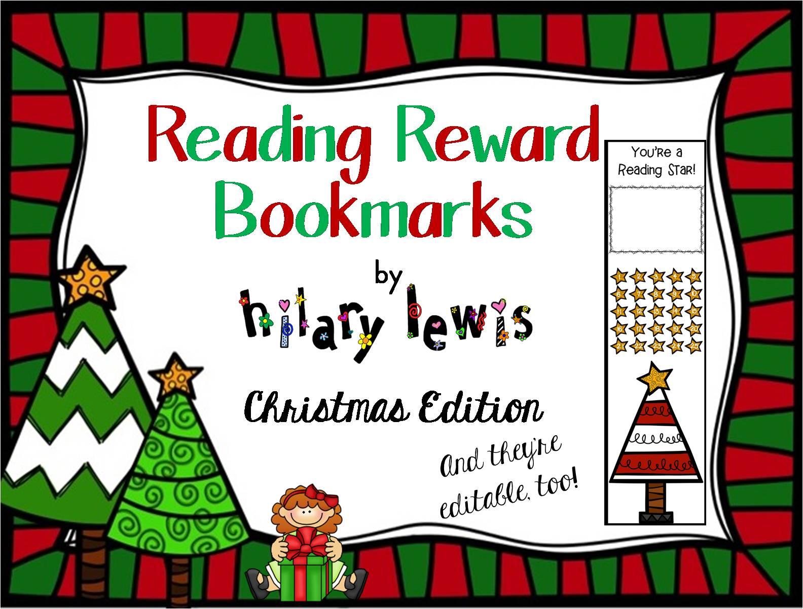 Reading Reward Bookmarks-Christmas Edition