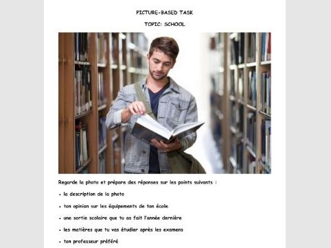 French GCSE Picture-based task school