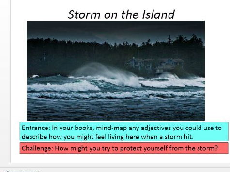 Storm on the Island - differentiated lesson