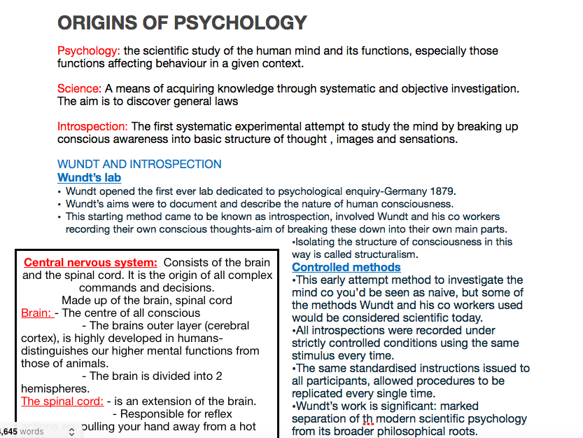 Psychology AQA A level - Approaches