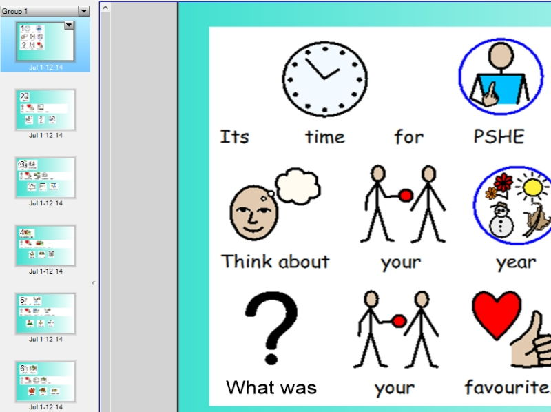 End of year review lesson & resources for Autistic Young People or EY or KS1 + fidget spinner symbol