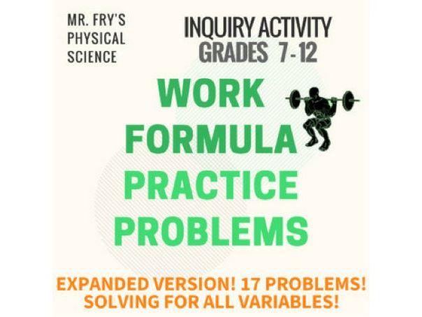 Work Formula Practice Problems