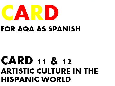 SPEAKING CARDS 11 & 12 for AQA A-LEVEL SPANISH (new specification)