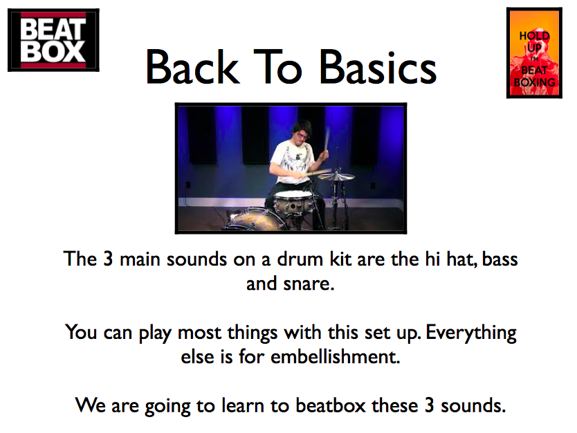 KS3 MUSIC BEATBOXING BEAT BOX SLIDESHOW LESSON 3 MAIN SOUNDS *mac users only*