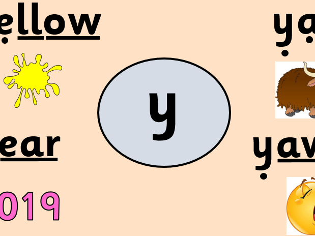 Alternative pronunciation - y grapheme