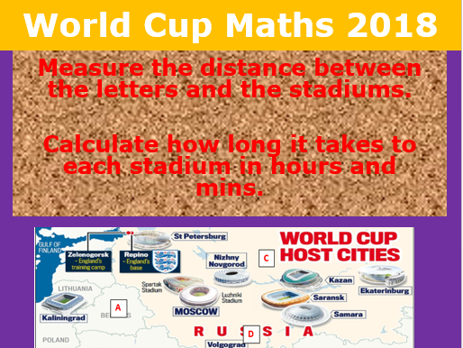 World Cup 2018- distance between the stadiums.