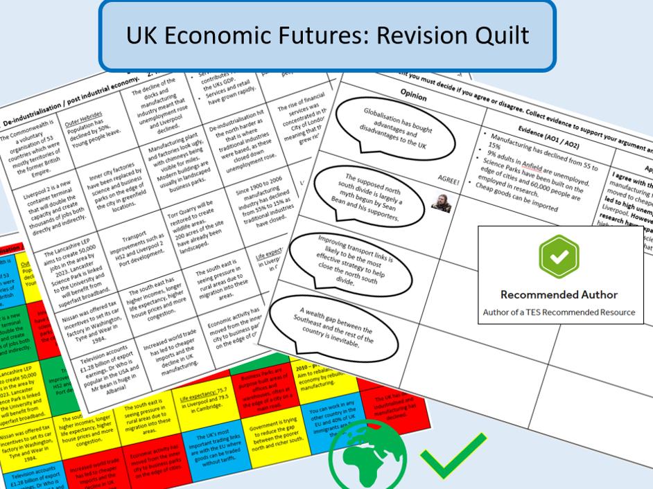 AQA 9-1 GCSE : UK Economic Futures Revision Quilt