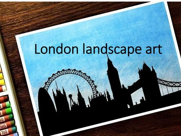 Silhouette art London cityscape remote learning