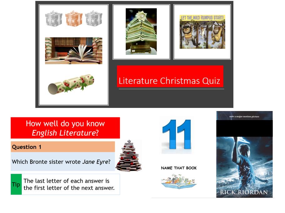 Christmas Literature Quiz