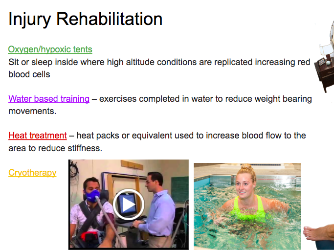 A Level - Injury Prevention and Rehabilitation