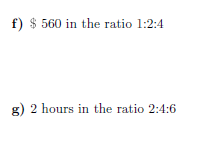 Ratios worksheet (with solutions)