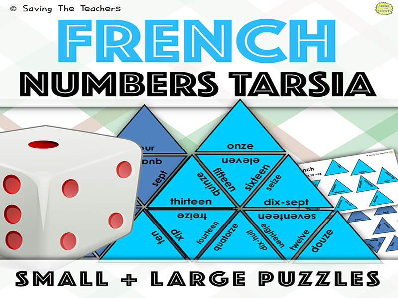 Numbers In French Tarsia Puzzles