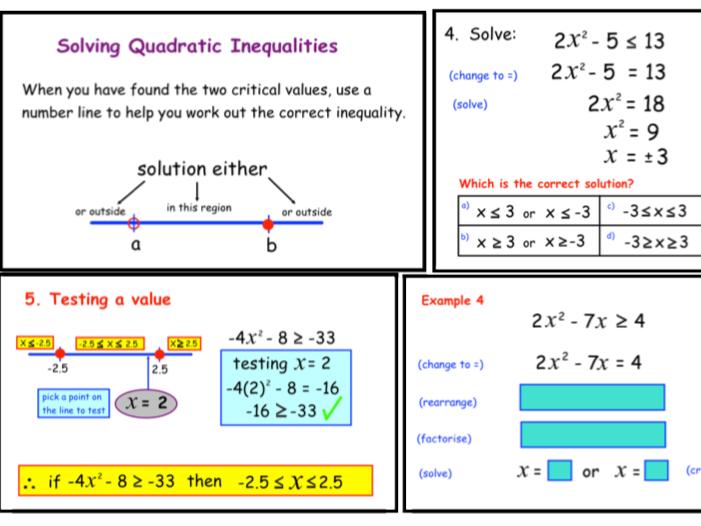 Solving Quadratic Inequalities (ppt)