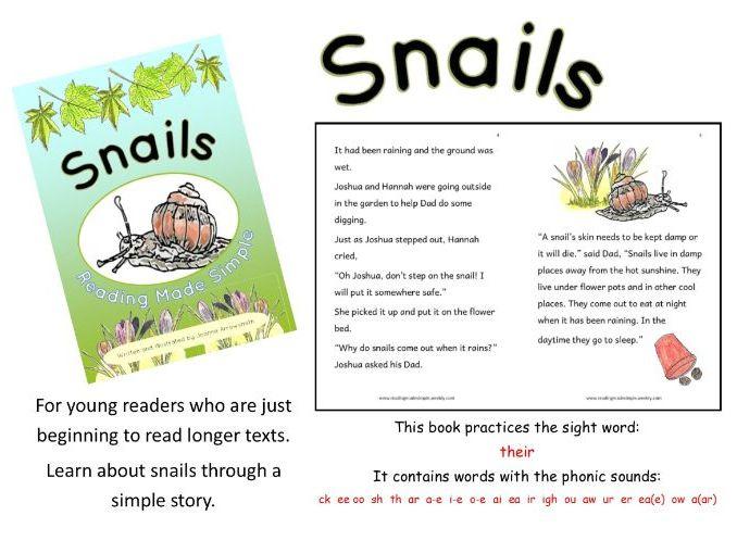 KS1 reading book Free download Snails