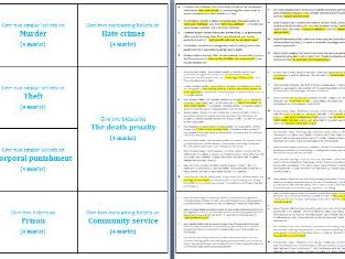 40 Exemplar Crime and Punishment Exam Style Question Cards - 4 and 5 markers (Religious Studies)