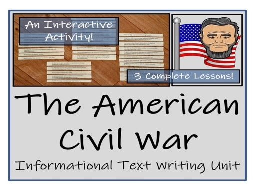 UKS2 History - American Civil War Informational Text Writing Unit