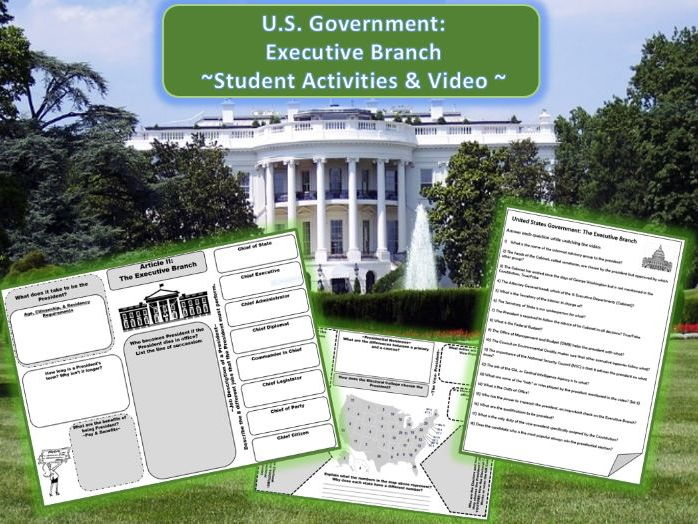 US Government: Executive Branch Activities & Video