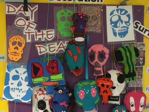 Day of the Dead textiles toy project
