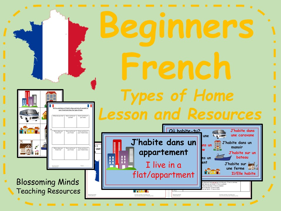 French lesson and resources - KS2 - Types of home