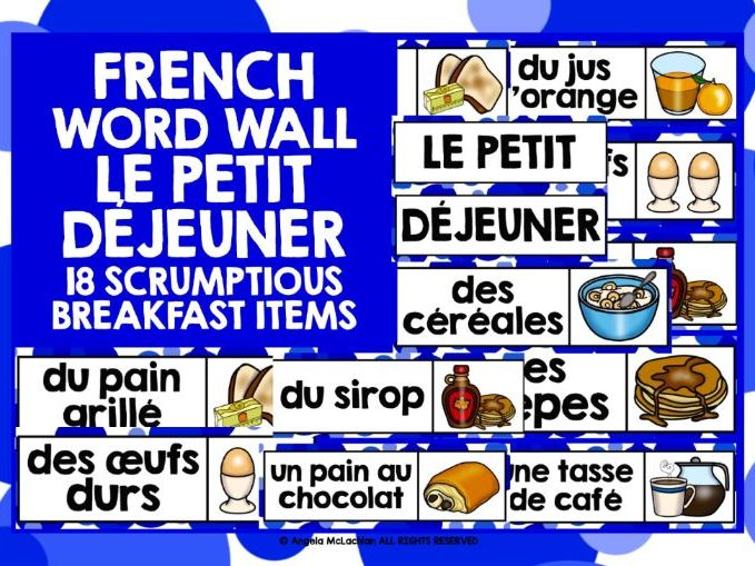 PRIMARY FRENCH BREAKFAST DISPLAY WORD WALL