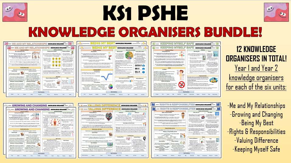 KS1 PSHE Knowledge Organisers Bundle!