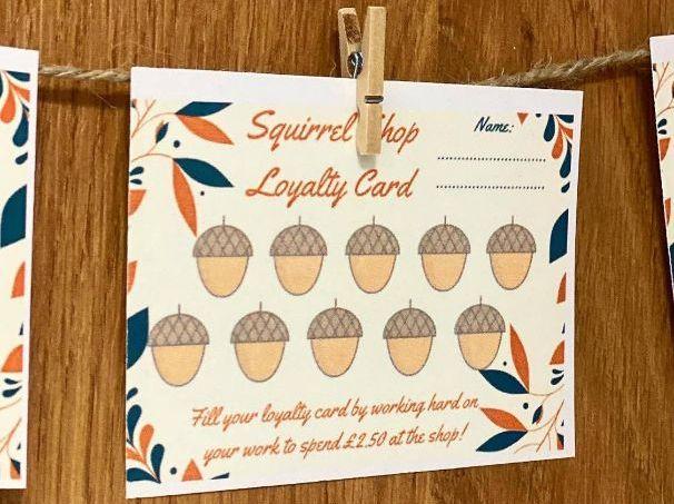 Squirrel Shop Loyalty Cards