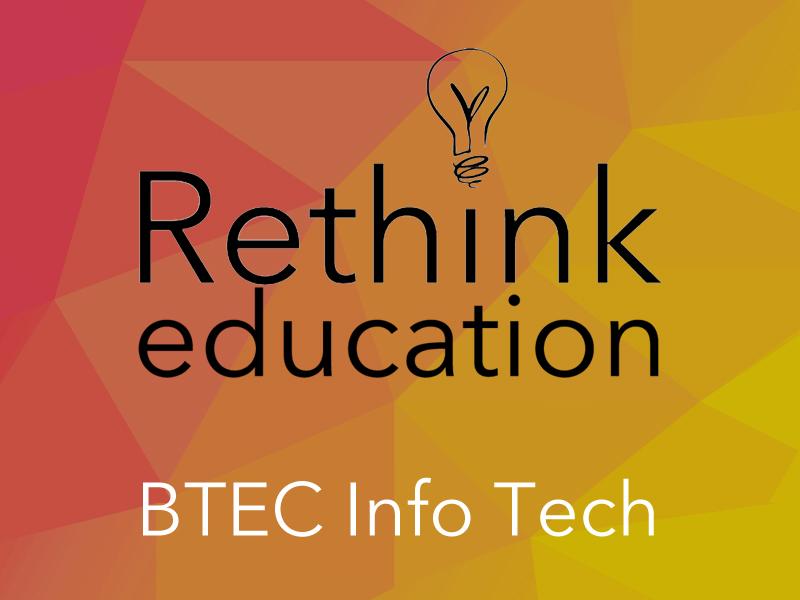 BTEC Digital Information Technology Learning Aim A1
