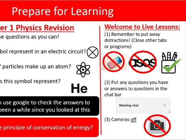 Online Lesson: Energy and Energy Transfers